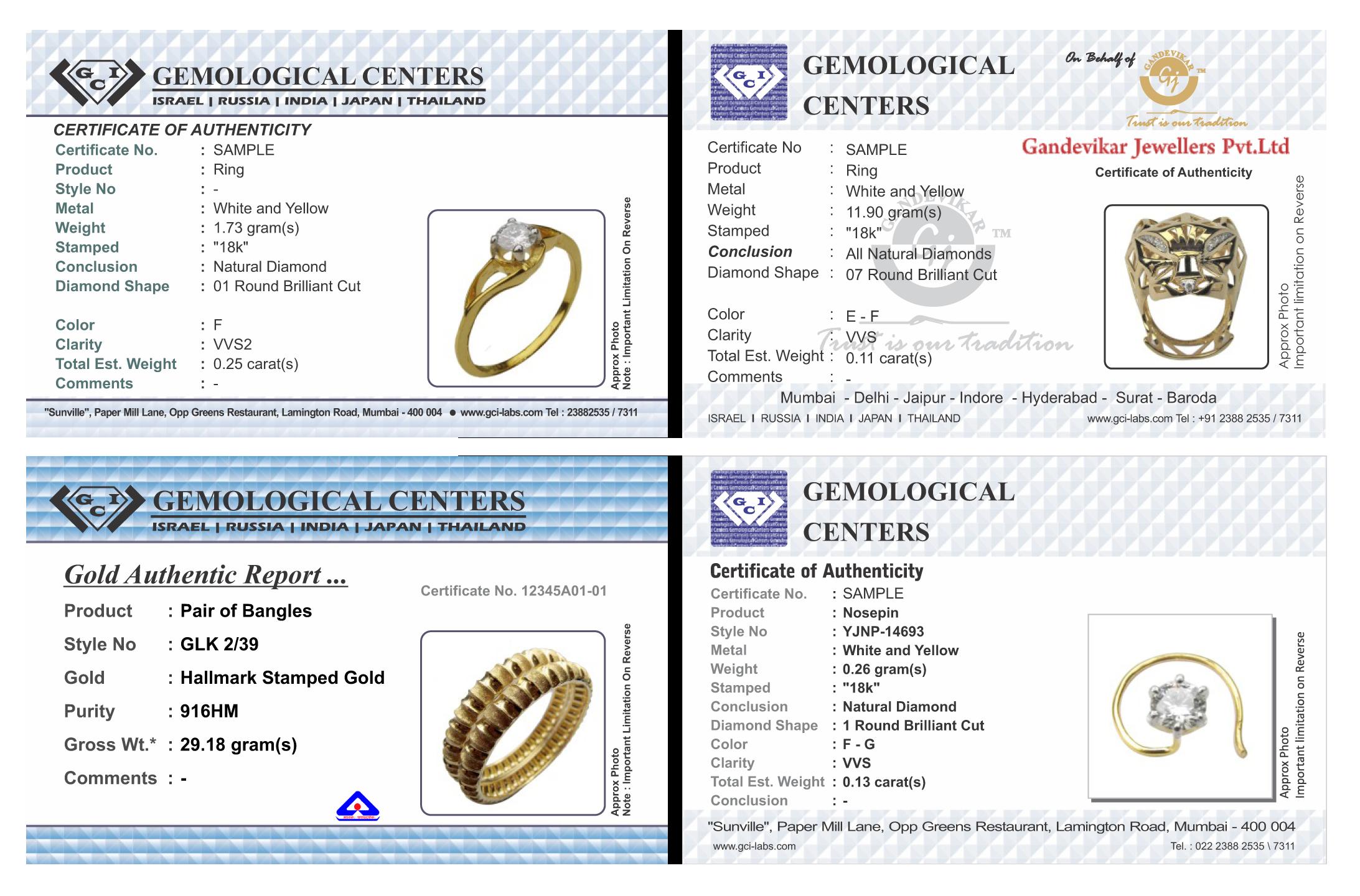 Gci jewllery certificate yadclub Gallery